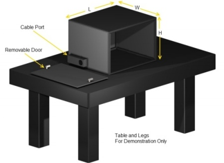 optical table enclosure 450